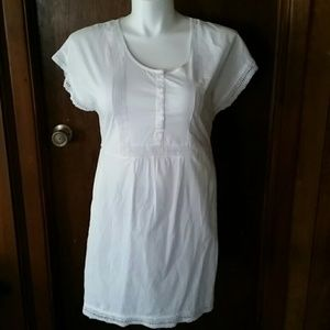 J Crew White Cotton Swimsuit Cover-up, Sixe XS